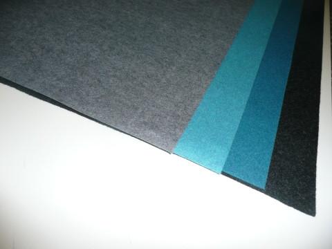 Nadelfilze 2,0mm und 2,5mm 100% Polyester, 1,10m Breite, 30 lfm pro Rolle