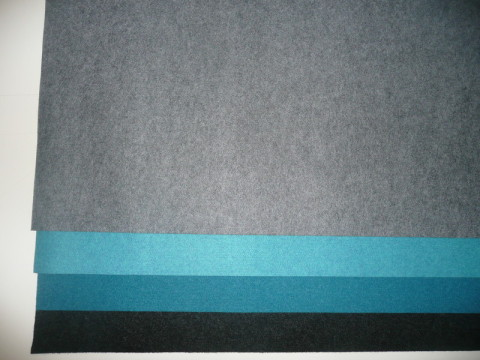 Filz 100% PES  2,0mm und 2,5mm, 100% Polyester