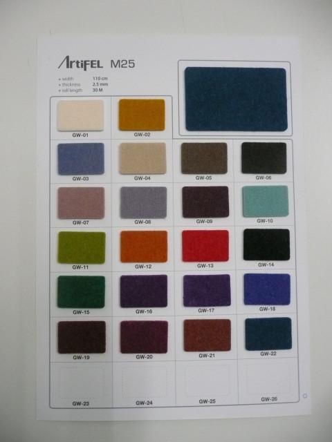 Farbkatalog - Colour card - 2,5mm
