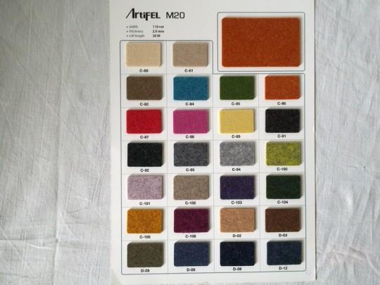 Farbkatalog - Colour card - 2,0mm