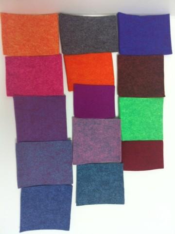 Nadelfilze 100% PES 4,0mm, 850gr/m², 10 lfm/Rolle, 14 Farben